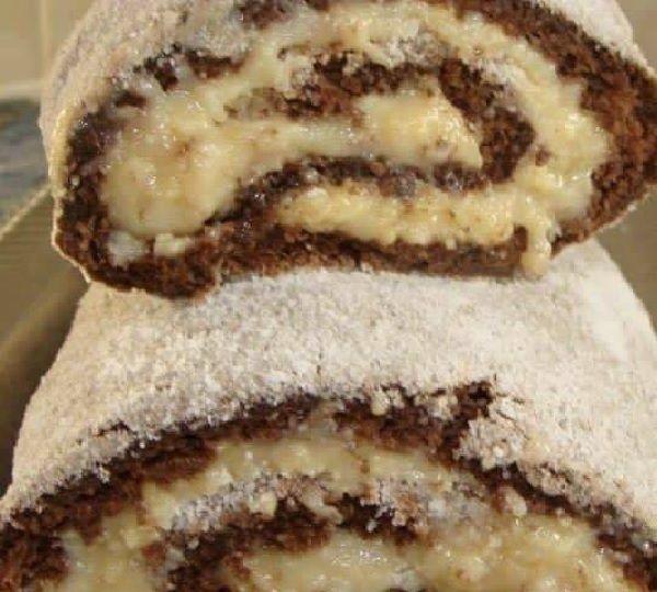 O Rocambole Prestígio é delicioso, fácil de fazer e perfeito para o café da sua família. Experimente!