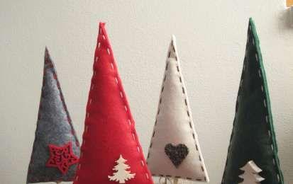 Decorazioni natalizie fai da te - Alberelli fai da te in feltro