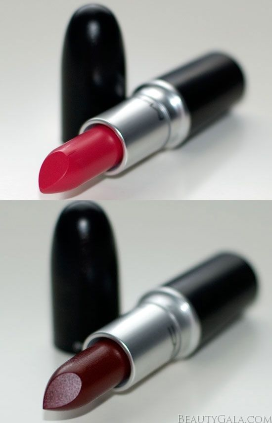 i could tell the top is ruby woo, and the bottom looks like sin.