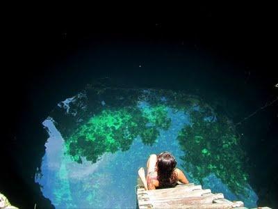 Cenote in Tulum, Mexico #travel #mexico #cenote
