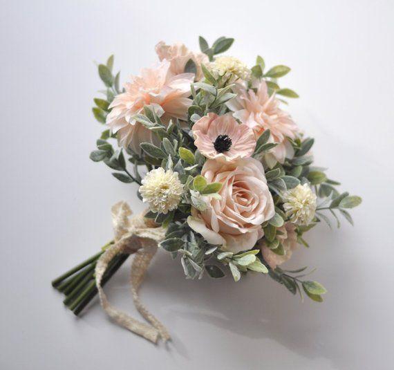 Bridal Bouquet Blush Poppy Wedding Bouquet Wedding Flowers
