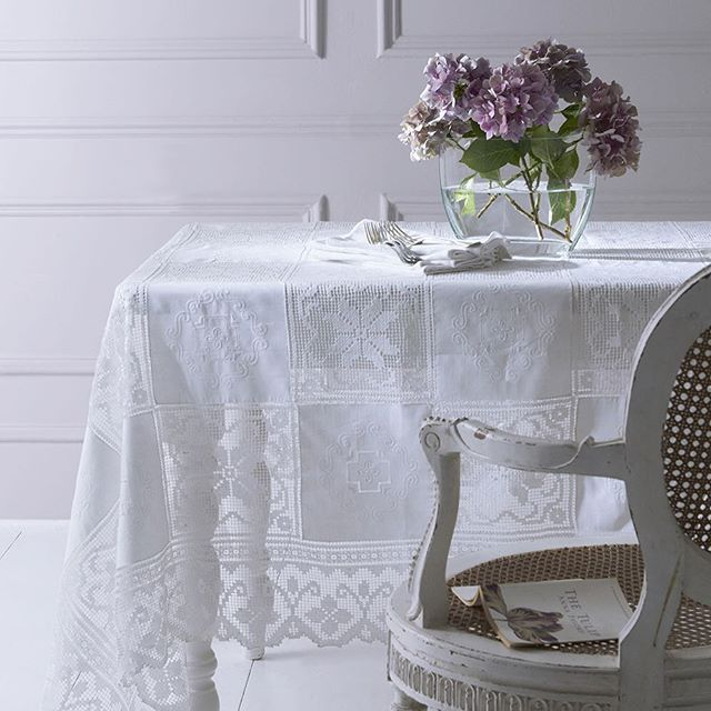 So excited to launch a new collection of tablecloths on our website ❤️ #cologneandcotton #embroideredtablecloth #purelinen #lace