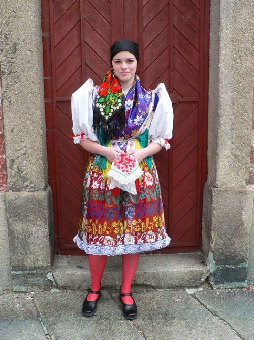 Kroj from town Domažlice in region Chodsko, which is in Western Bohemia.
