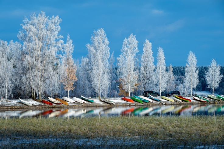 From Tampere -- Boats and Frost by Ari Salmela