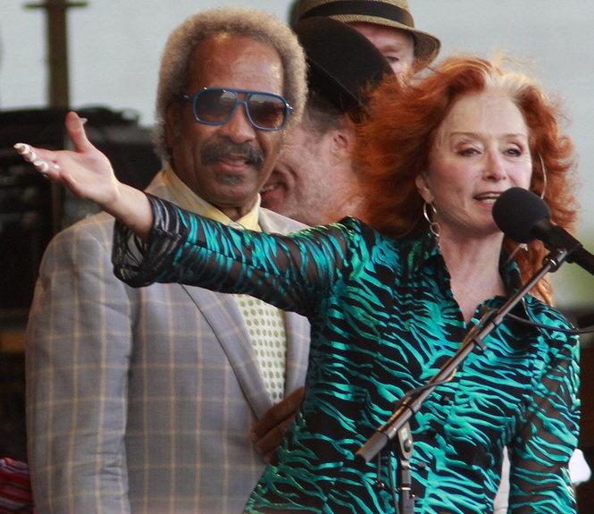 Bonnie Raitt and Allen Toussaint at the New Orleans Jazz Fest