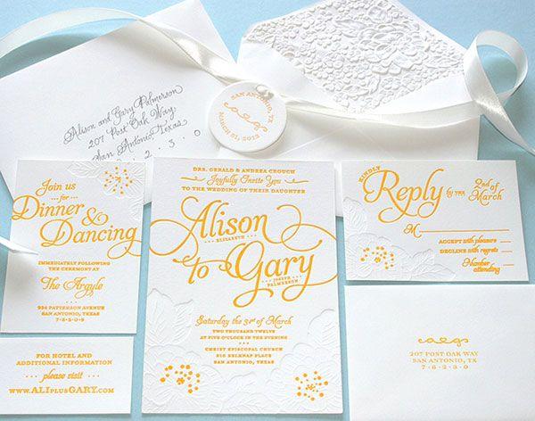 DIY Letterpress Wedding Invitations.