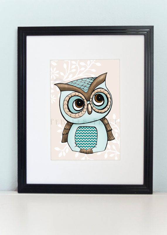 Quirky Little Blue Owl