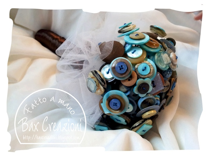 Bax Creazioni: Bouquet azzurro, beige e cioccolato
