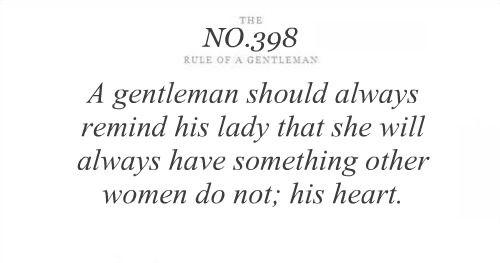 his heart | rule of a gentleman