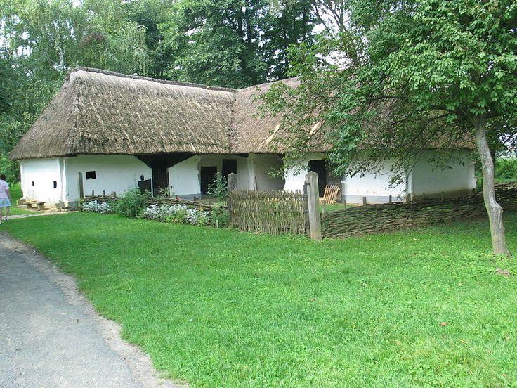 House in an old Hungarian village. Göcsej Village Museum, Zalaegerszeg, Hungary.
