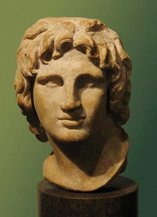 Bust of a young Alexander the Great from the Hellenistic era, British Museum