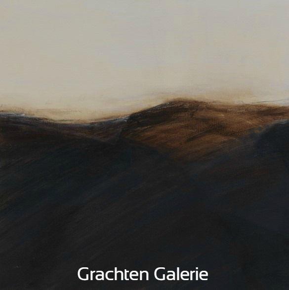 Z.t. 18 | Andre Hoppzak | Schilderij | Painting | Kunst | Art | Wit | White | Bruin | Brown | Grachten Galerie