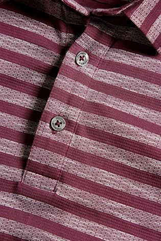 Buy Red Jacquard Stripe Polo online today at Next: Australia