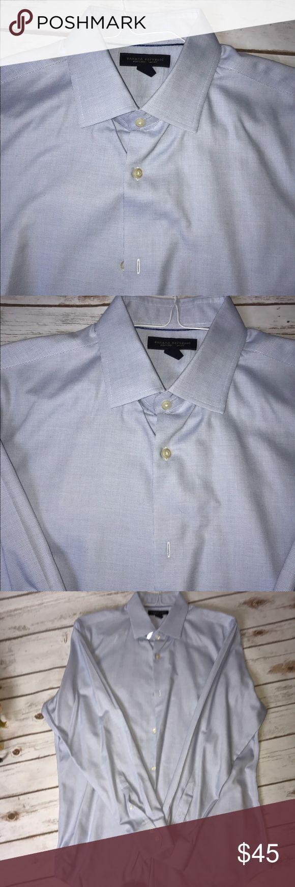 🆕 men's slim fit dress shirt Light powder blue banana republic slim fit dress shirt. Banana Republic Shirts Dress Shirts
