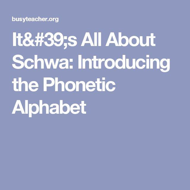 The  Best English Phonetic Alphabet Ideas On