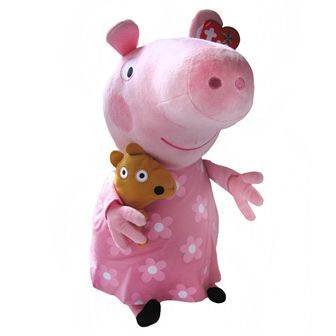 """Bedtime Peppa Pig 15"""" Classic Soft Toy Price: £21.99 http://shop.peppapigworld.co.uk/collections/soft-toys-beanies/products/bedtime-peppa-pig-15-classic-soft-toy"""