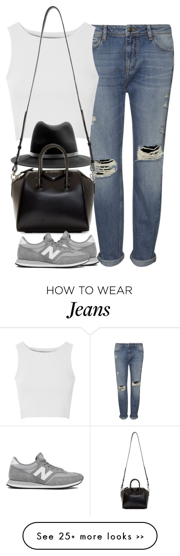 """Untitled #3747"" by london-wanderlust on Polyvore featuring Whistles, Glamorous, rag & bone, Givenchy and New Balance"