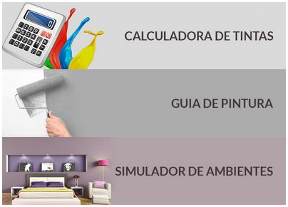 No nosso site você encontra as funções: calculadora de tintas, guia de pintura e simulador de ambientes para te ajudar na hora da pintura. Se você ainda não conhece vale a pena conferir no tintaemoferta.com.br
