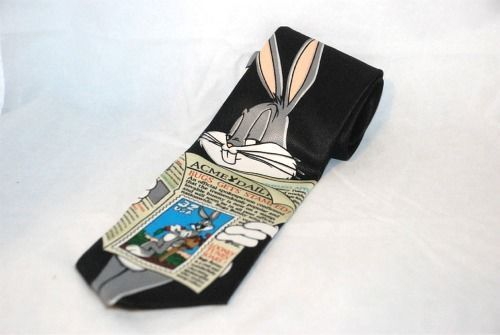 Bugs Bunny Looney Tunes Stamp Collection Tie Necktie Acme Daily 1997 Warner Bros #NeckTie