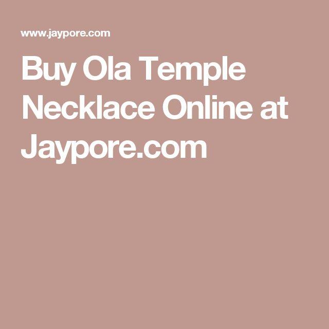 Buy Ola Temple Necklace Online at Jaypore.com