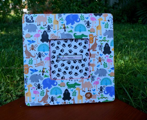 Animal picture frame Kids room decor Cute picture by FramezCraze