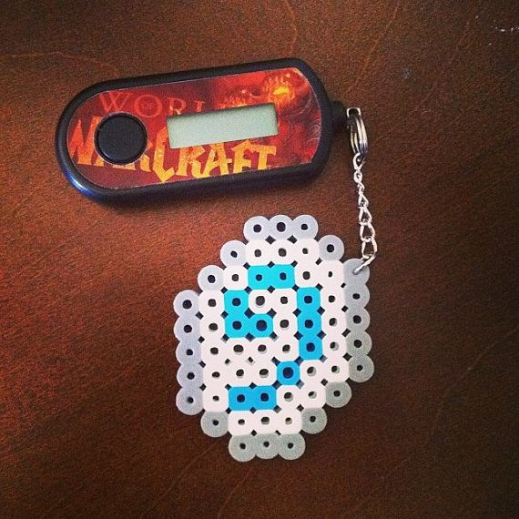 World of Warcraft perler bead hearthstone by EclecticGeekette, $5.00