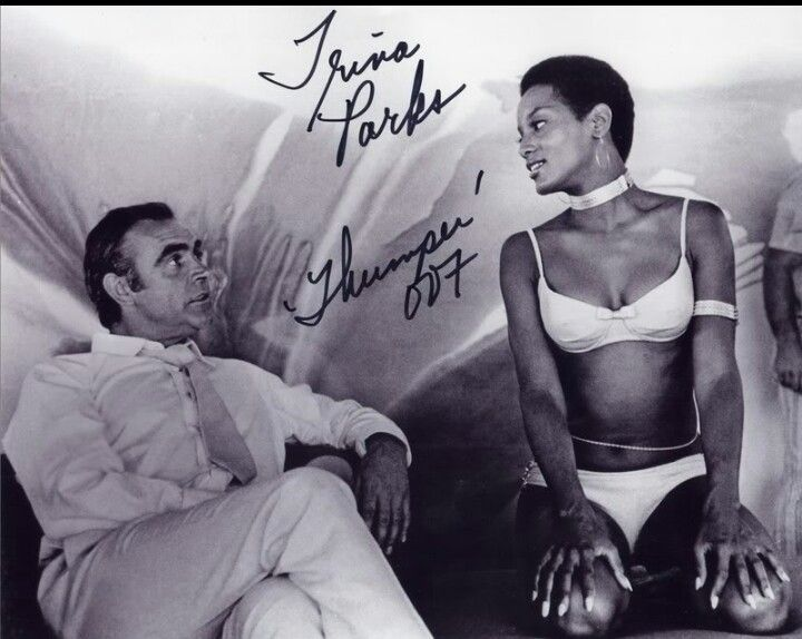 Sean Connery and Trina Parks. She was the first African American Bond girl, This was controversial in some countries at the time and not allowed to air. She was even cut out of the scenes or replaced.