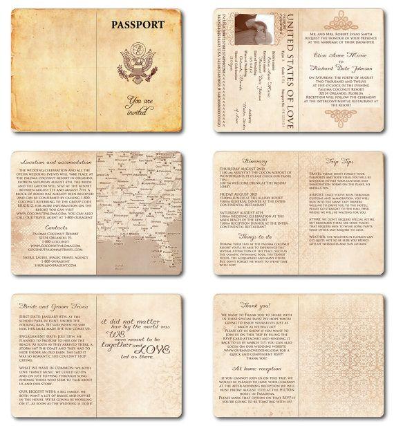 passport wedding program template - best 25 passport wedding invitations ideas on pinterest