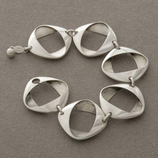 Gallery 925 (antique/vintage) - Georg Jensen Bracelet by Henning Koppel, no. 190, Handmade Sterling Silver
