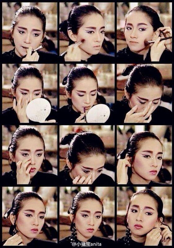 Anita Mui putting on make up...  梅艷芳