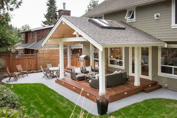 Capilano Residence - traditional - Patio - Vancouver - Synthesis Design Inc.
