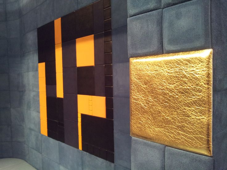 Another Max Bill's painting designed by arch. Silvia Sandini with Lapèlle leather tiles