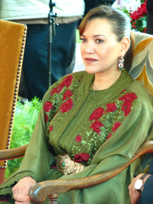 Her Royal Highness Princess Lalla Hasna of Morocco.  Lalla Hasna, born 19 November 1967, is the youngest daughter of King Hassan II and his wife, Lalla Latifa Hammou. She is sister to the current king, Mohammed VI.