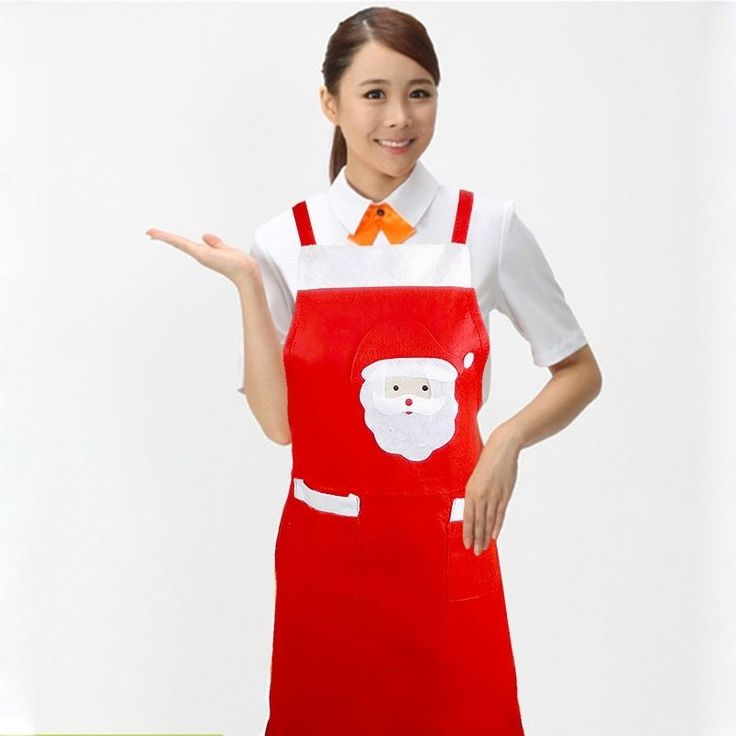 Kitchen Santa Claus Cooking Baking Chef Red Apron Christmas Xmas Ornament Decor