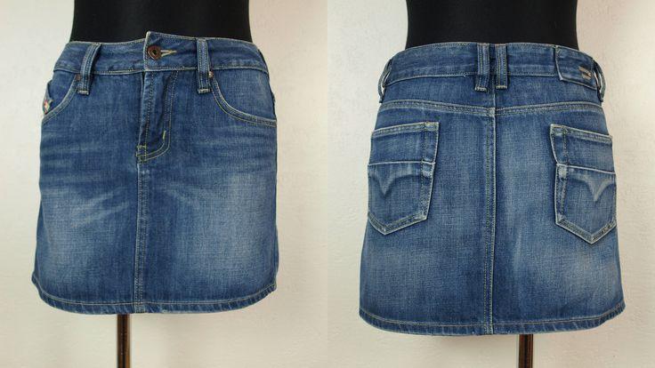 DIESEL mini skirt, Blue Diesel skirt, Diesel Size m W30 100% Cotton Made in Spain Women's jeans skirt denim skirt light blue by SillyPurpleZephyre on Etsy