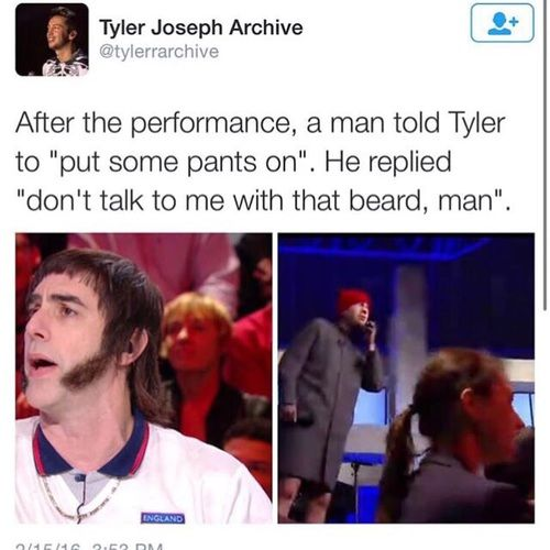 when i watched this and heard what that chipmunk said, i was v sad for tyler bc he looked so sad.