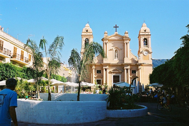 Piazza del Duomo- Terrasini, Sicily  Church where my parents & in-laws were married.
