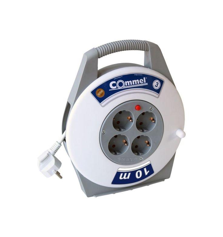 10m Kabeltrommel Kabelbox Verlängerungskabel Kabelrolle 4-fach Mehrfachstecker   Heimwerker, Elektromaterial, Kabel   eBay!