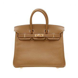 Hermes Birkin Bag 25 Gold Epsom Leather Gold Hardware