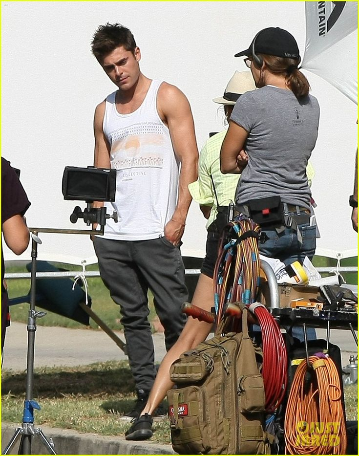 zac efron steps out after split from michelle rodriguez 17 Zac Efron shows off his buff arms in a white tank top on the set of his upcoming movie We Are Your Friends on Wednesday afternoon (August 20) in Los Angeles.   …