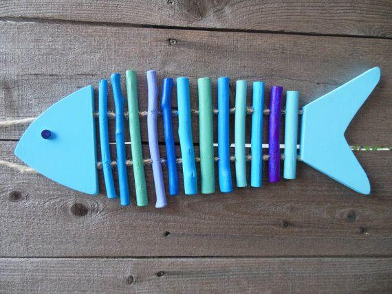 BLUE FISH .. Beach .. Ocean .. Deck .. FISHES by MaggiesKlosets