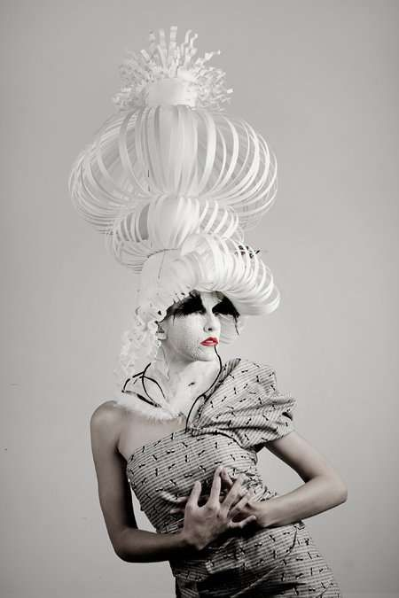 Eccentric Papercraft Headwear The Avant Garde Photography by Jennifer Crowder of Stretch Photos