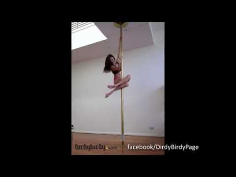 Must try the last one!!!  Vid 50: Sitting Bird, Batwing, Cupid combo. Pole dancing practice - YouTube