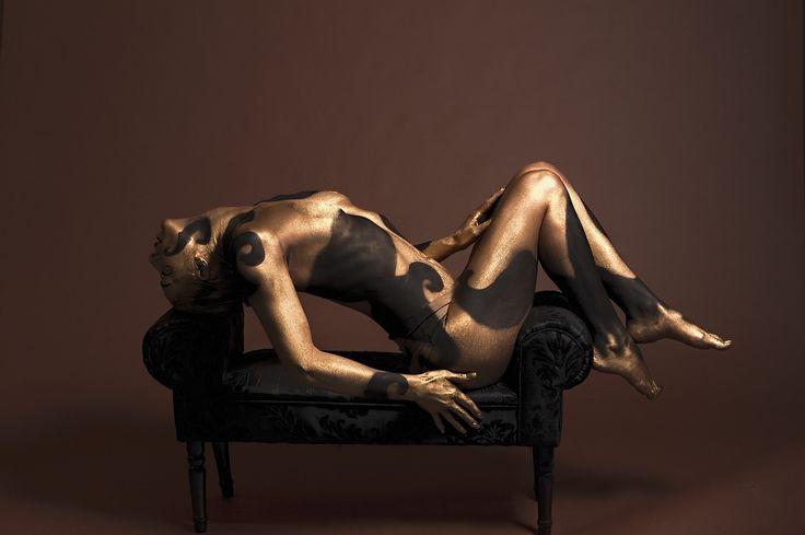 바디 페인팅, 모델, 몸, 여성, 스튜디오, 페인트, 예술적인, 관 능, 우아, 바디 아트