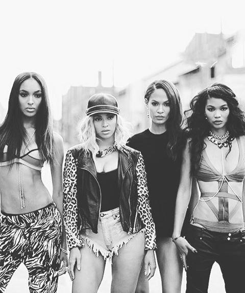Joan Smalls, Beyonce, Selita Ebanks, Chanel Iman💪🏾International day of the GIRL 💪🏾