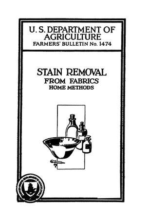 Stain Removal From Fabrics Home Methods Listing Multiple Pages Digital Library How To Remove Stain Digital Library