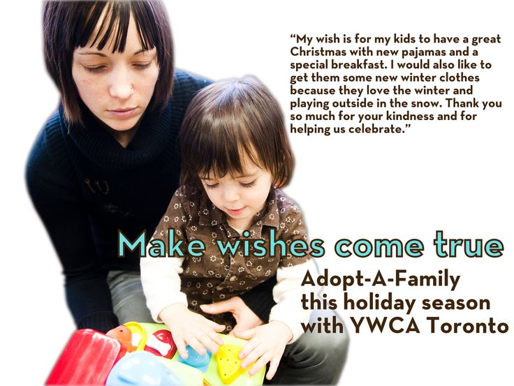 Learn how you can help a woman in need by joining our Adopt-A-Family program.