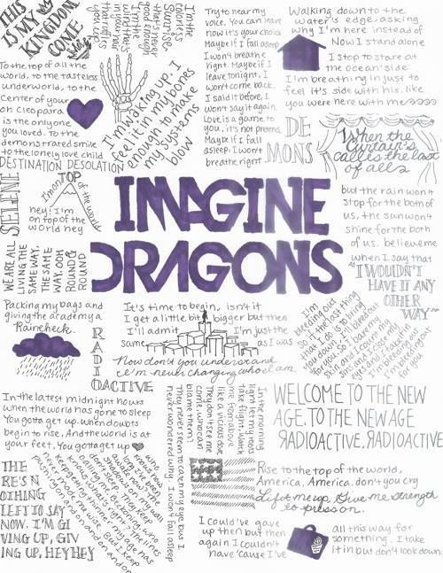 """Words to live by, """"Imagine Dragons."""""""