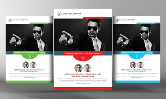 Corporate Business Flyer Template by Business Templates on @creativemarket