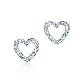 Tiffany & Co. | Item | Tiffany Hearts® earrings in 18k white gold with diamonds. | United States